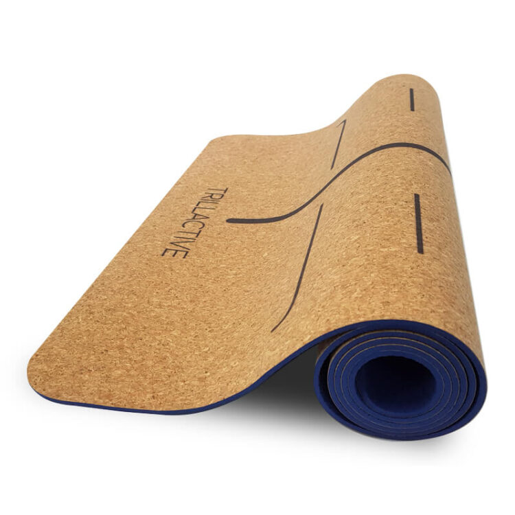 TR013MAT -Natural Cork Deluxe Yoga Mat