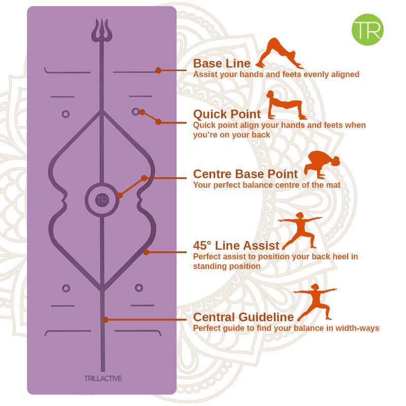Yoga Mat _ Natural Rubber Alignment Grid