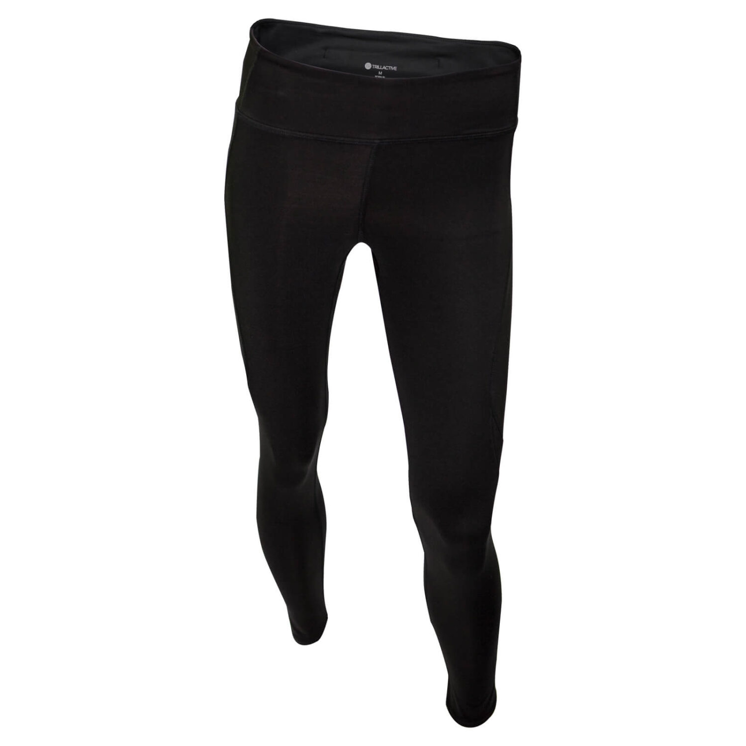 TR001-High Rise Long Tight-Black-Front
