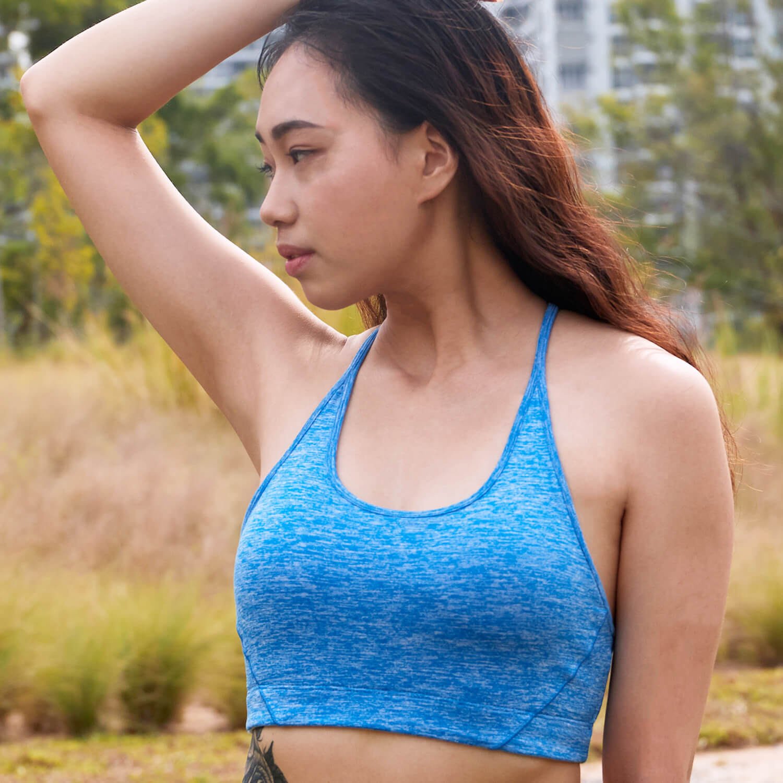 Braided Sports Bra -Blue