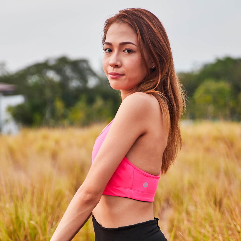Braided Sports Bra - Pink