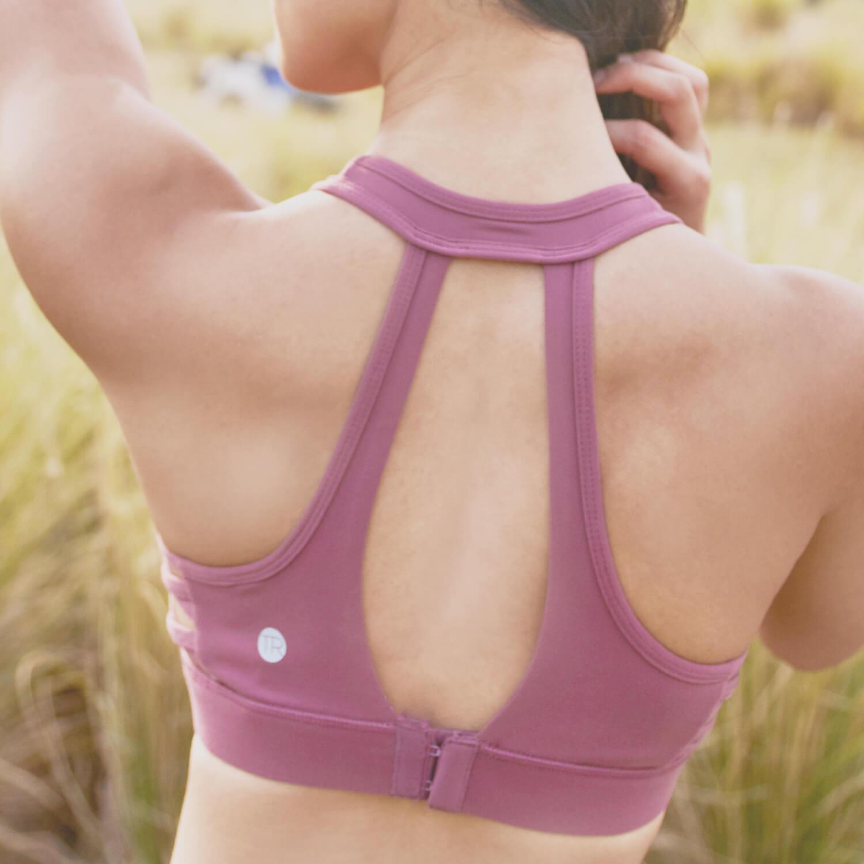 Max Sports Bra Dusty Pink-Back
