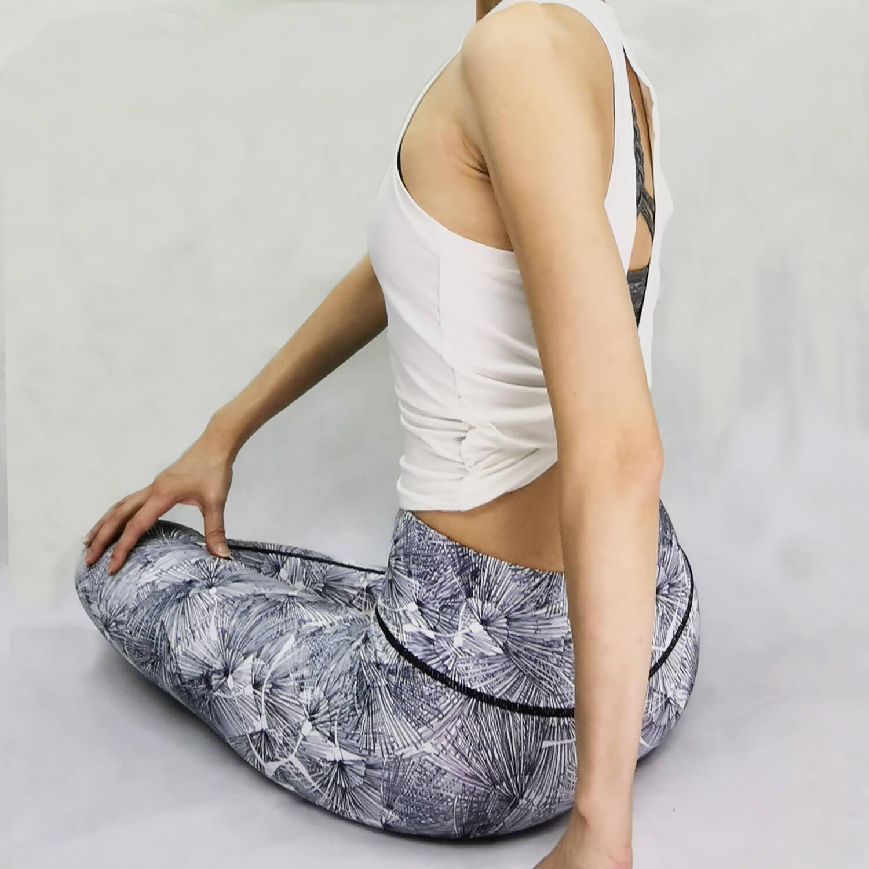 Yoga Legging- Basic Long Tights - White Color