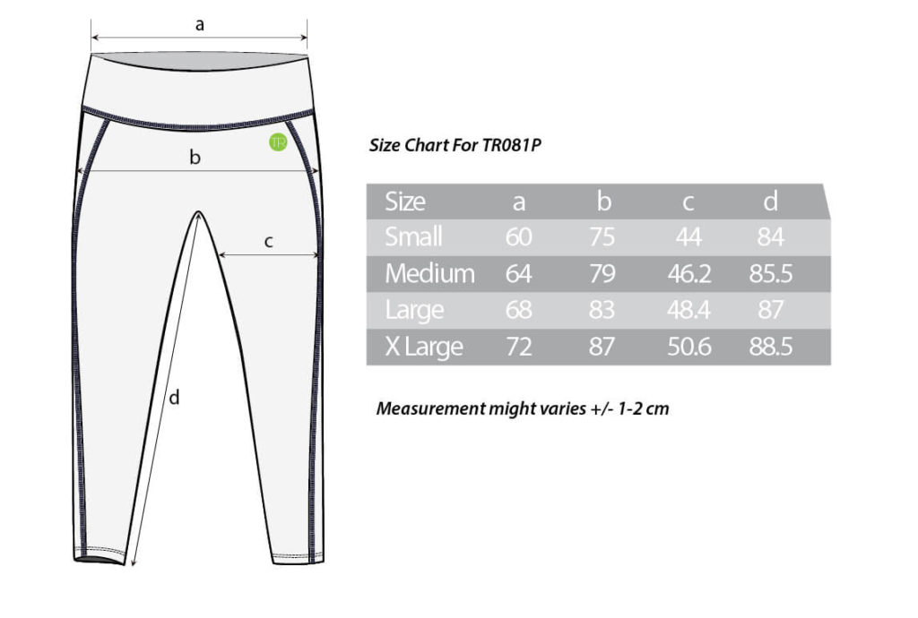 size chart TR081P