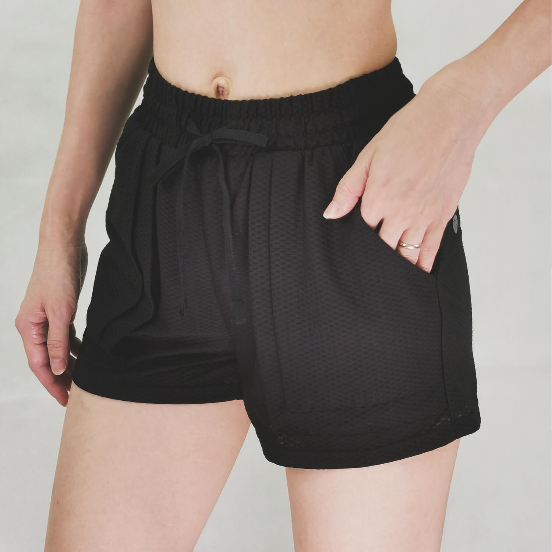 Yoga shorts- Black-TR080P