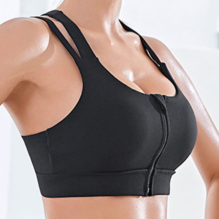 Yoga Bra - Zipped Front Sports Bra