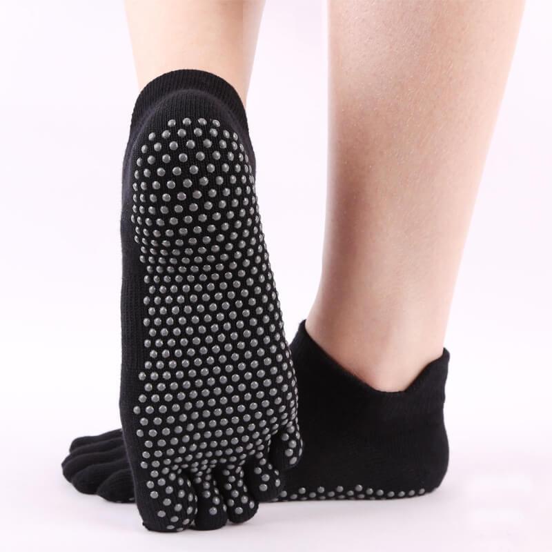 Anti Slip Yoga Sock Black