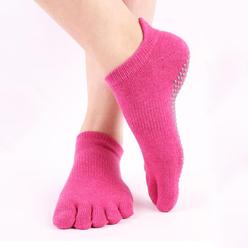 Anti Slip Yoga Sock Fuschia