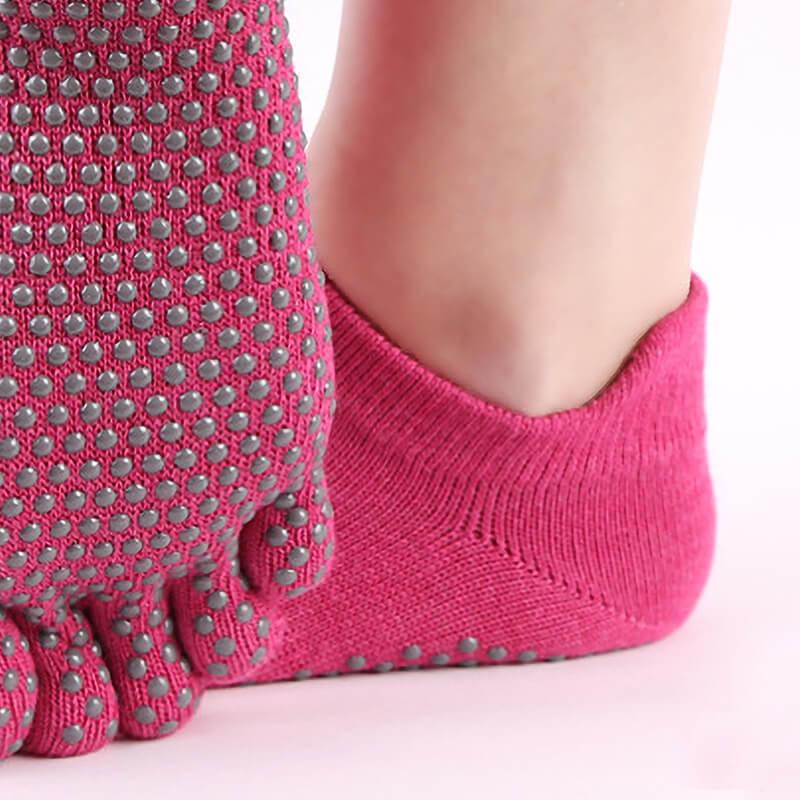 Anti Slip Yoga Sock With Raised Heel Tab