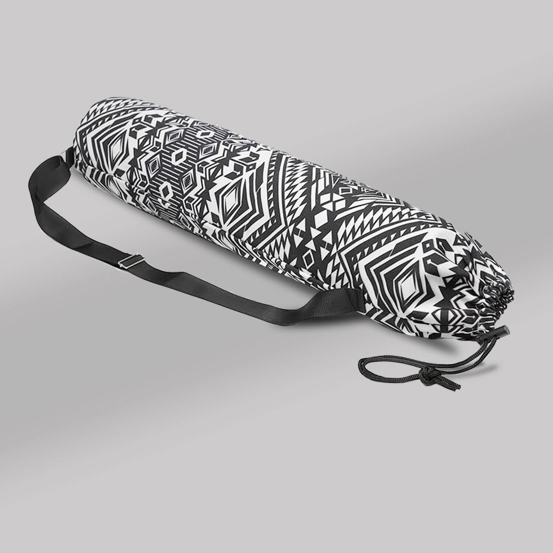 Yoga mat bag (Draw String) - Ethnic White