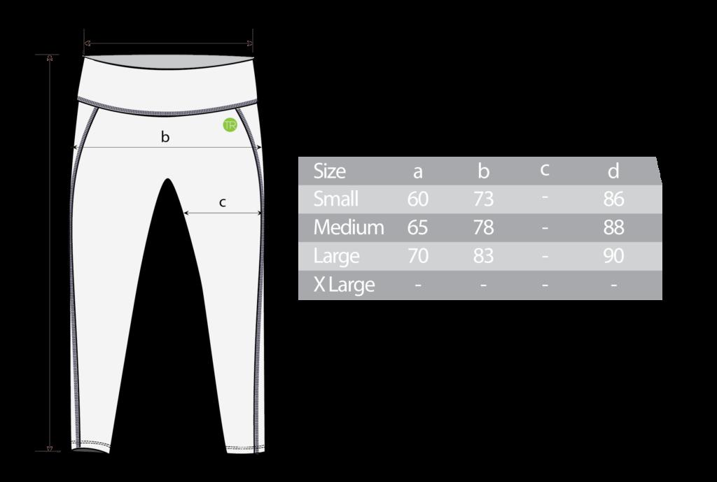 Crisscross Mesh Long Tight Size Chart