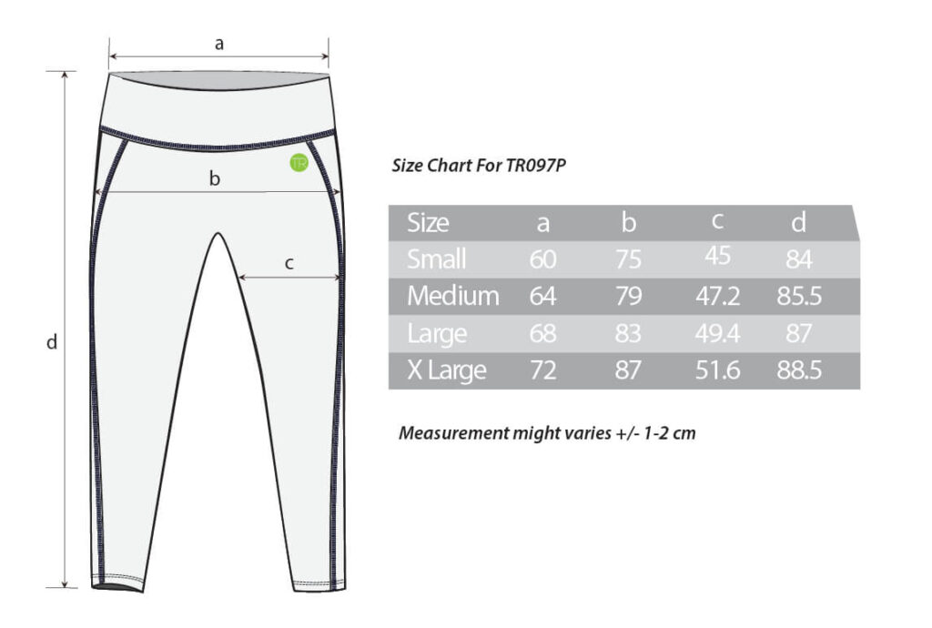 TR097P-size chart