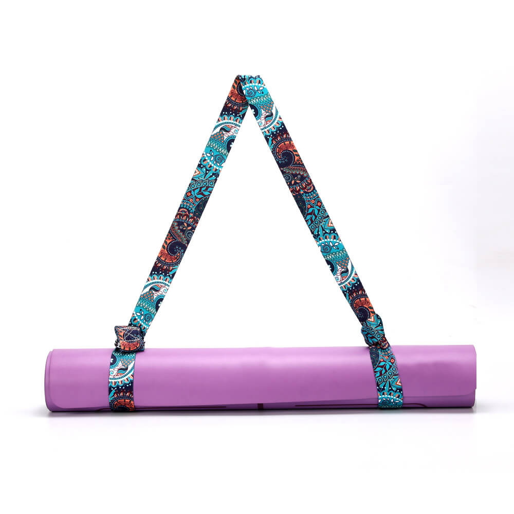 TR Yoga Strap Strap Hanging On Mat