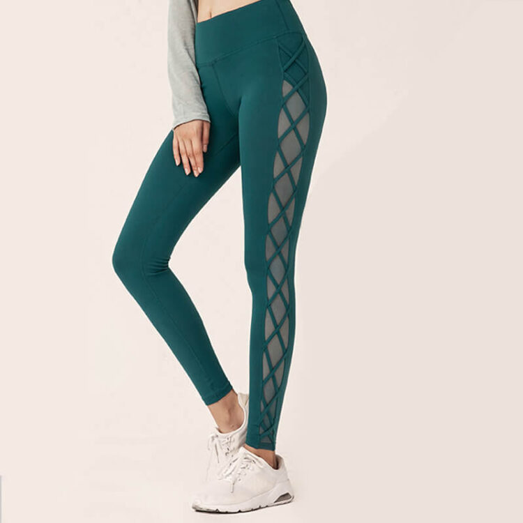 Yoga Tights - Crisscross Mesh Long Tight