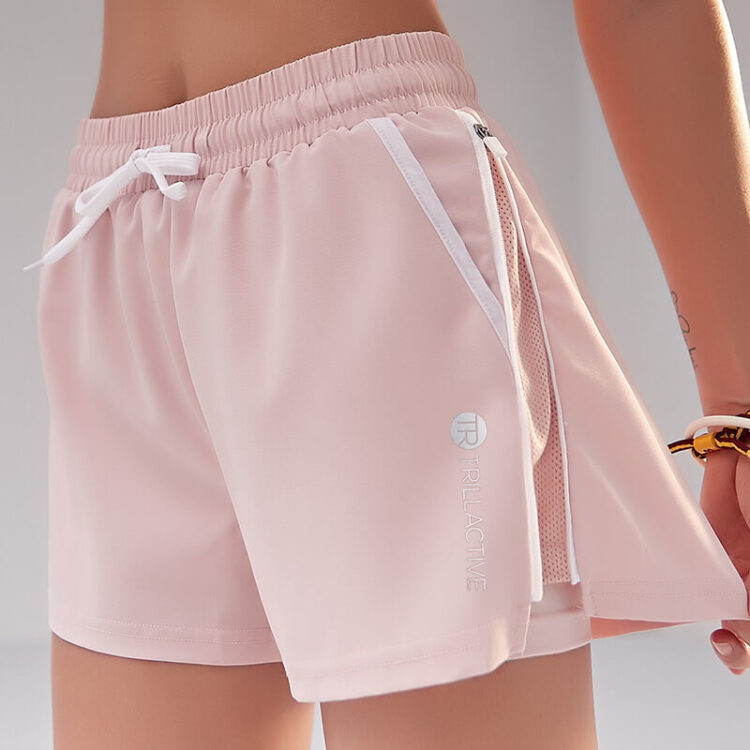 Shorts With Side Zips and Internal Tights