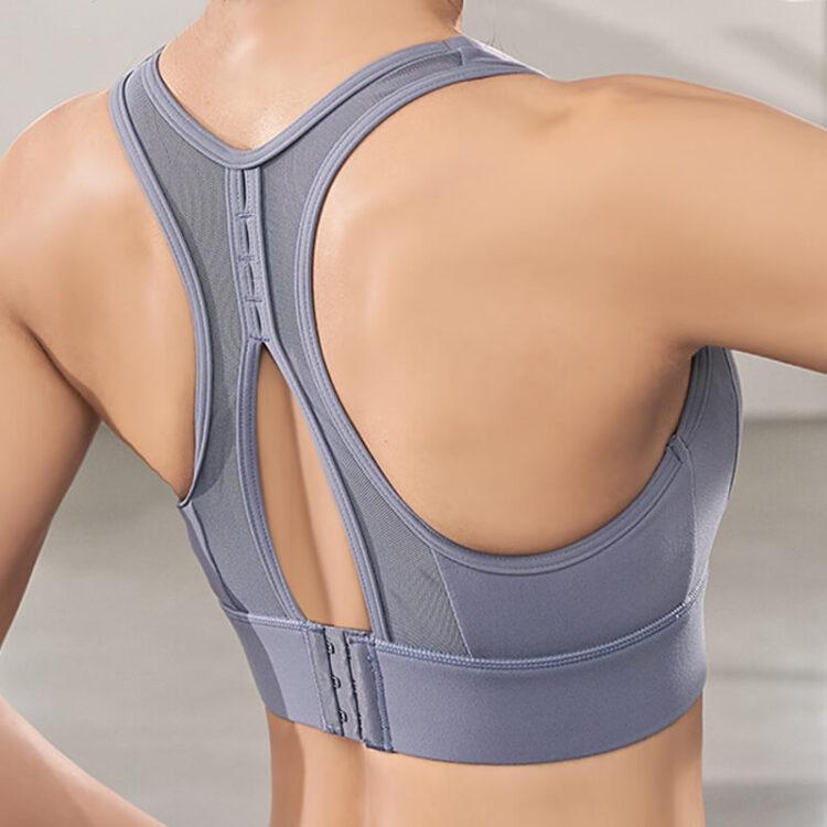 Expression Sports Bra-Blue -Back