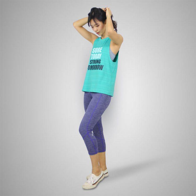 Yoga Tank Top- Sore_&_Strong-Green